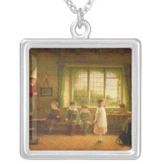 貴婦人のSchool、s.and D. 1899年 シルバープレートネックレス