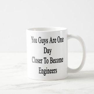 貴方達はなったエンジニアに近い方の1日です コーヒーマグカップ