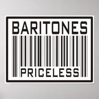 貴重なバリトン歌手 ポスター