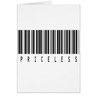 貴重なバーコード カード