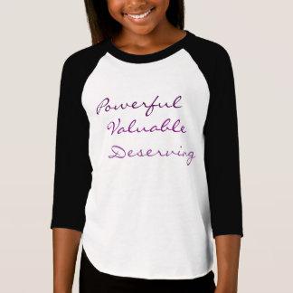 、貴重強力、-女の子のティー値します Tシャツ