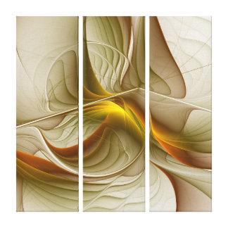 貴金属の色、抽象的なフラクタルの芸術 キャンバスプリント