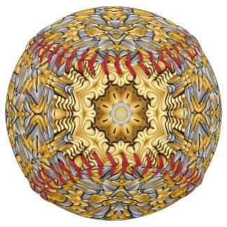 貴金属の   ヴィンテージの万華鏡のように千変万化するパターンのソフトボール ソフトボール