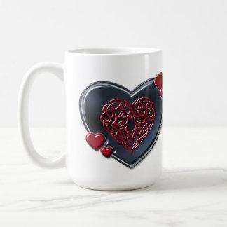 買い戻されたハート コーヒーマグカップ