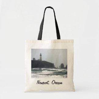 買い物袋、ニューポートオレゴン- Yaquinaの灯台 トートバッグ
