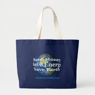 買い物袋、保存の地球 ラージトートバッグ