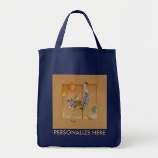 買い物袋-回転木馬のだちょう トートバッグ
