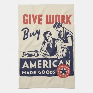 買物のアメリカ人 キッチンタオル