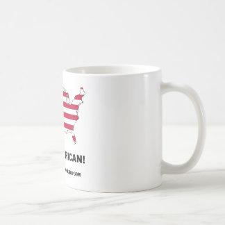 買物のアメリカ人 コーヒーマグカップ