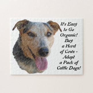 買物のオーガニックな牛-アースデー牧場犬 ジグソーパズル