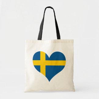 買物のスウェーデンの旗 トートバッグ
