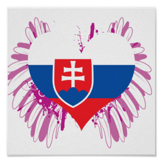 買物のスロバキアの旗 ポスター