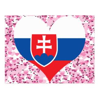 買物のスロバキアの旗 ポストカード