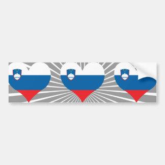 買物のスロベニアの旗 バンパーステッカー