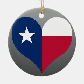 買物のテキサス州の旗 陶器製丸型オーナメント