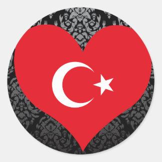 買物のトルコの旗 ラウンドシール