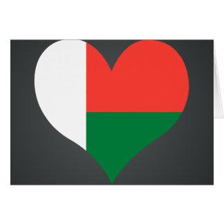 買物のマダガスカルの旗 カード