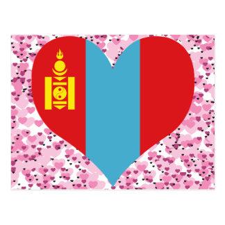 買物のモンゴルの旗 ポストカード
