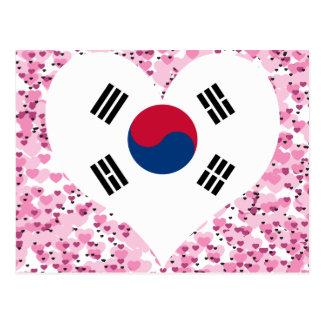買物の南朝鮮の旗 ポストカード