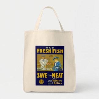 買物の鮮魚の~の保存肉 トートバッグ