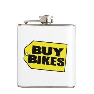 買物は自転車に乗ります(パロディ) フラスク