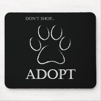 買物をしないで下さい、採用しないで下さい マウスパッド