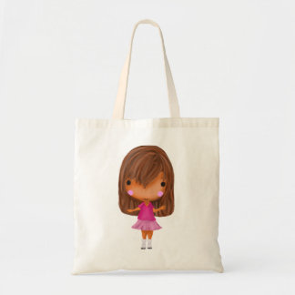 買物をすることを行くこと準備ができている小さな女の子 トートバッグ
