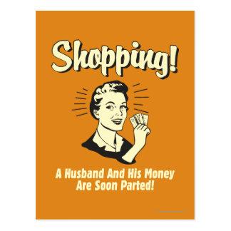 買物をすること: 夫および彼のお金 ポストカード
