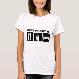 買物をする生命の優先順位 Tシャツ