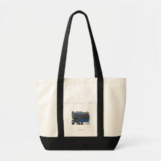 買物客の駐車、黒いバッグ トートバッグ
