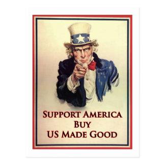買物米国の商品の米国市民ポスター ポストカード