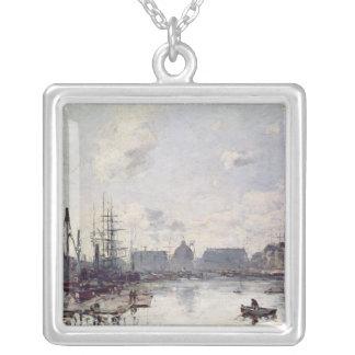 貿易の港、ルアーブル1892年 シルバープレートネックレス