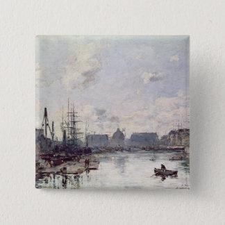 貿易の港、ルアーブル1892年 5.1CM 正方形バッジ