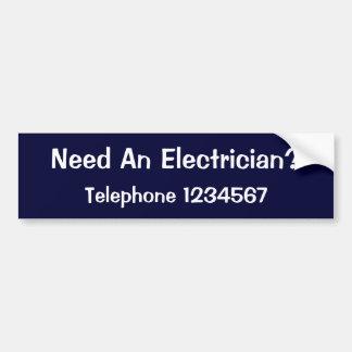 貿易。 電気技師 バンパーステッカー