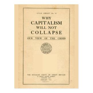 資本主義が1932年なぜ倒れないかSPGB ポストカード