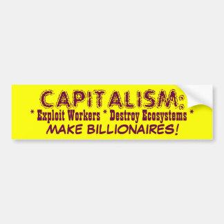 資本主義のバンパーステッカー バンパーステッカー