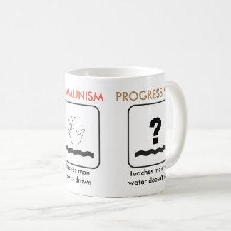 資本主義の共産主義の進歩主義のマグ コーヒーマグカップ