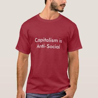 資本主義は反社会的です Tシャツ