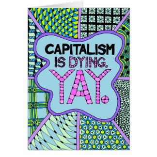資本主義は死んでいます。 Yay -冷笑的な挨拶状 カード