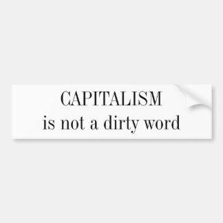 資本主義は禁句ではないです バンパーステッカー