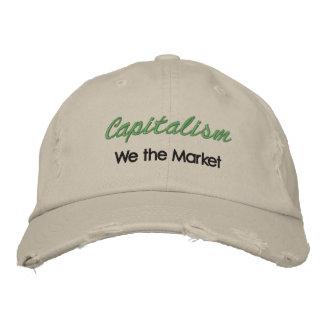 資本主義、私達市場 刺繍入りキャップ