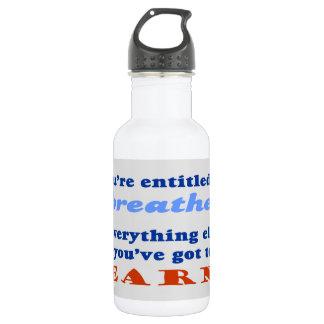 資格を与えられる呼吸するために ウォーターボトル