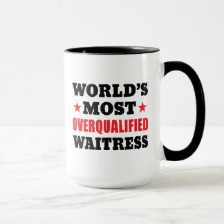 資格過剰なウェートレス マグカップ