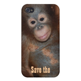 資金集めをするオランウータンの慈善を救って下さい iPhone 4/4S COVER