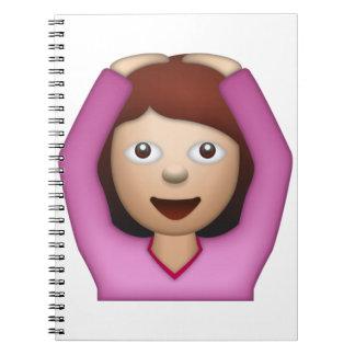 賛成している女性- Emoji ノートブック