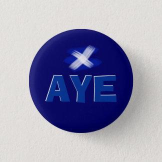 賛成スコットランドの独立旗のバッジ 3.2CM 丸型バッジ