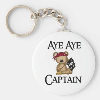 賛成賛成大尉テディー・ベアの海賊キーホルダー キーホルダー
