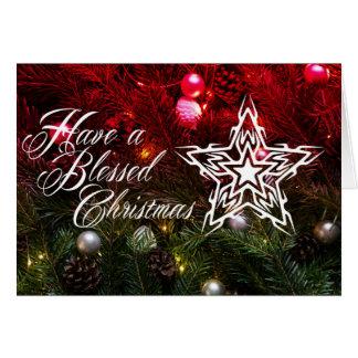 賛美されたクリスマスの挨拶状を持って下さい カード