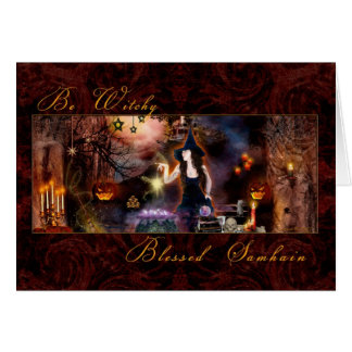 賛美されたハロウィン- Witchyカードがあって下さい カード