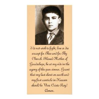賛美されたホセサンチェスの祈りの言葉カード カスタム写真カード